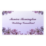 Lilac Wedding Consultant Pack Of Standard Business Cards