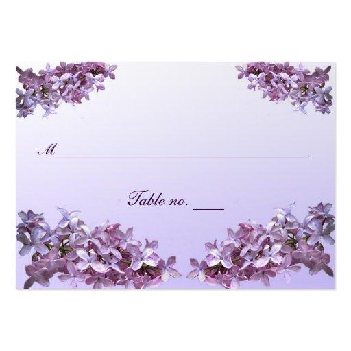 Lilac Wedding Escort Card Business Card