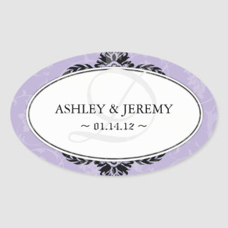 Lilac Wedding Favor Stickers