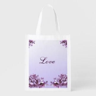 Lilac Wedding Love Reusable Tote