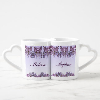 Lilac Wedding Lovers Mugs