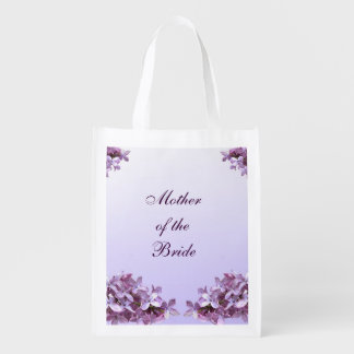 Lilac Wedding Mother of the Bride Reusable Tote Reusable Grocery Bag