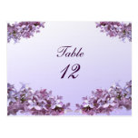 Lilac Wedding Table Number
