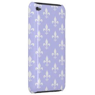 Lilac & White Fleur De Lis Pattern Case-Mate iPod Touch Case