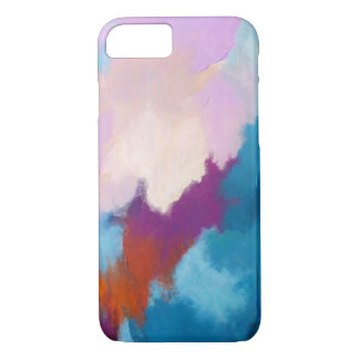 Lilac with Aqua Abstract Art by Kimberly Turnbull iPhone 8/7 Case