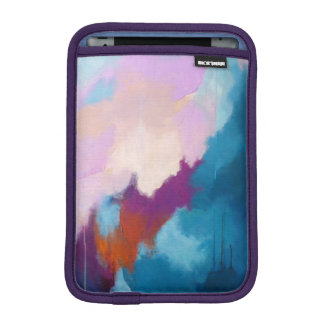 Lilac with Aqua Modern Abstract iPad Mini Sleeve