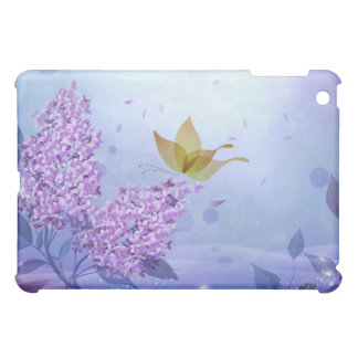Lilacs and Butterflies iPad Mini Cover