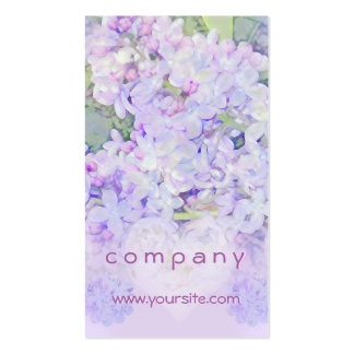 Lilacs and Hearts Double-Sided Standard Business Cards (Pack Of 100)
