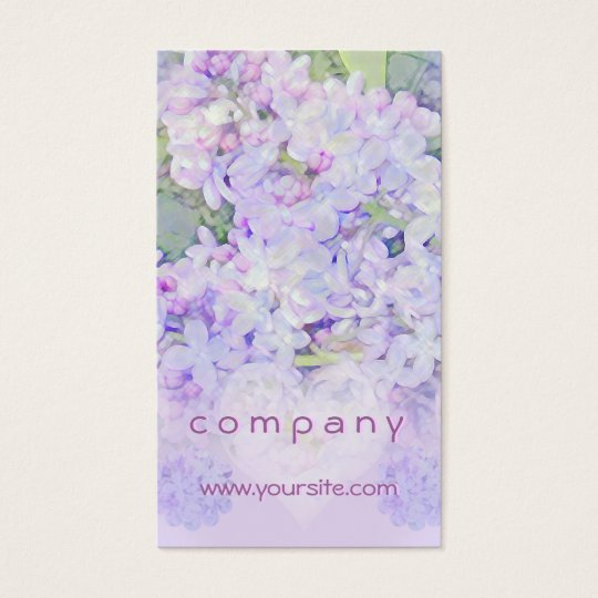 Lilacs and Hearts Business Card