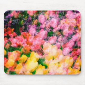 Lilacs and Tulips Mouse Mat