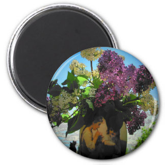 Lilacs and Vase Sisters Picnic Magnet