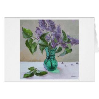 Lilacs - blank greeting card