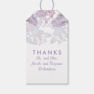 Lilacs - Floral Watercolors Elegant Wedding Gift Tags