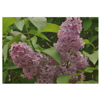 Lilacs Fully Bloomed Wood Poster
