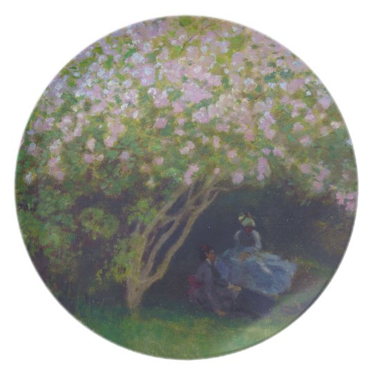 Lilacs, Grey Weather Claude Monet Plate