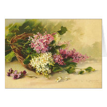 Lilacs in a Basket Card