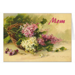 Lilacs in a Basket Mother's Day Greeting Cards