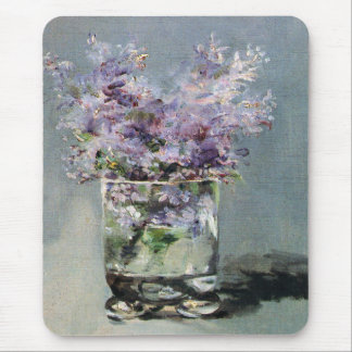 Lilacs in a Glass  by Edouard Manet Mouse Mat