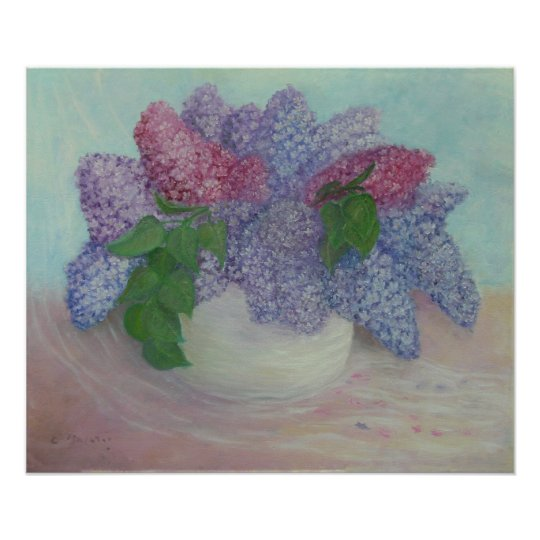 Lilacs In A Vase Poster