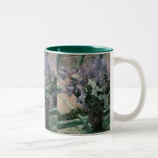 Lilacs in a Window Cassatt Vintage Impressionism Mugs