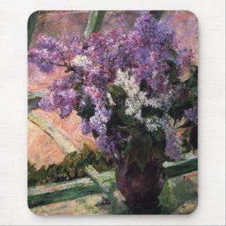 Lilacs in a Window Mary Cassatt Mousepad