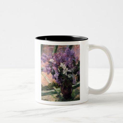 Lilacs in a Window, Mary Cassatt Coffee Mug