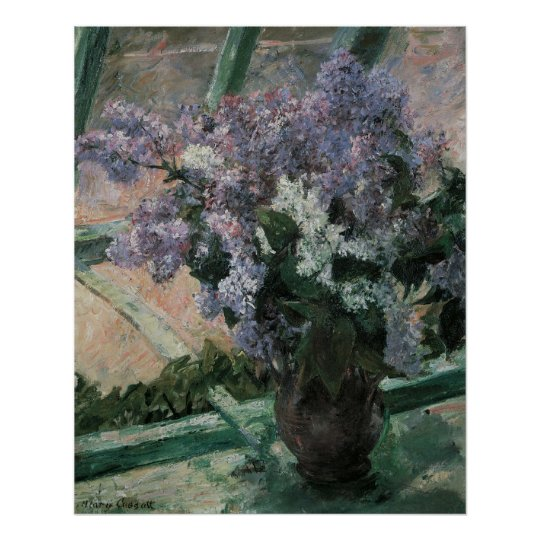 Lilacs in a Window, Mary Cassatt Poster