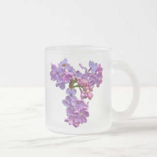 Lilacs in Springtime Frosted Glass Mug