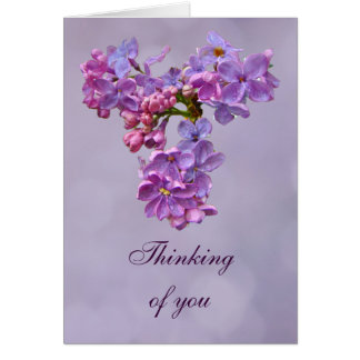 Lilacs in Springtime - Thinking of You Greeting Card