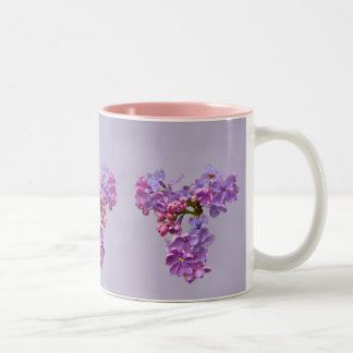 Lilacs in Springtime Two-Tone Mug