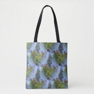 Lilacs in the sky.... tote bag