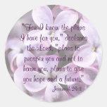 Lilacs Jeremiah 29:11 Sticker