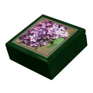 Lilacs n Green Custom Jewelry Box