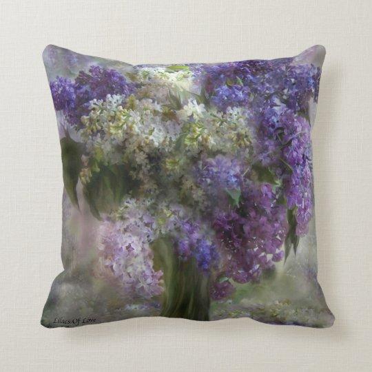 Lilacs Of Love Art Decorator Pillow