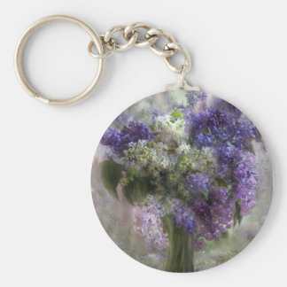 Lilacs Of Love Art Keychain
