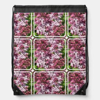 Lilacs Drawstring Backpacks