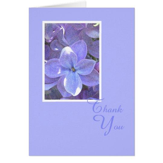 Lilacs Sympathy or Death Thank You Card
