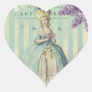 Lilas au printemps heart sticker