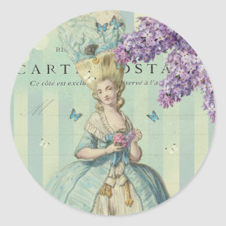 Lilas au printemps round sticker
