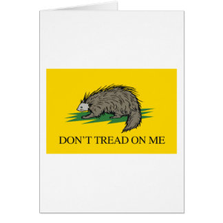 Lilbertarian - Don't Tread on Me Flag - -  Greeting Card