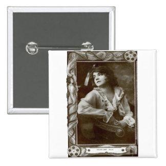 Lilian Gish 15 Cm Square Badge