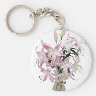Lilies051409 Basic Round Button Key Ring
