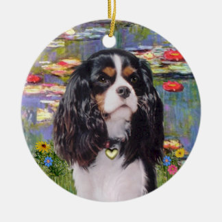 Lilies 2 - Cavalier (tri color) Christmas Ornament