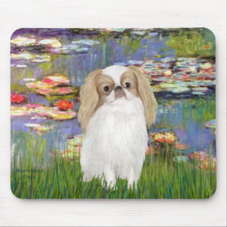 Lilies 2 - Japanese Chin )L1) Mouse Pads