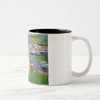Lilies 2 - Japanese Chin (L2) Two-Tone Coffee Mug
