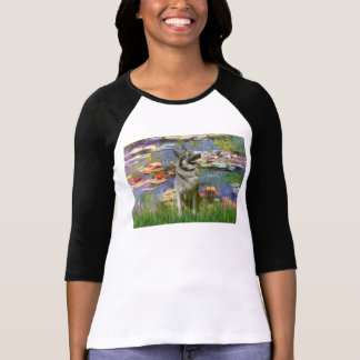 Lilies 2 -Norwegian Elkhound T-Shirt