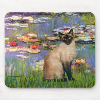 Lilies 2 - Seal Point Siamese cat Mouse Pad