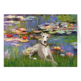 Lilies 2 - Whippet #2 Greeting Card