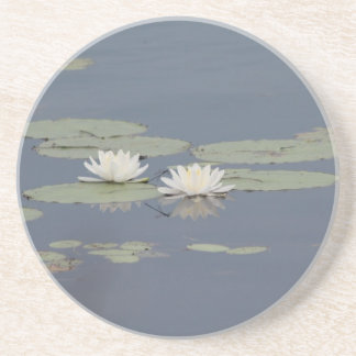 Lilies and Dragonfly Drink Coasters