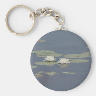Lilies and Dragonfly Keychains